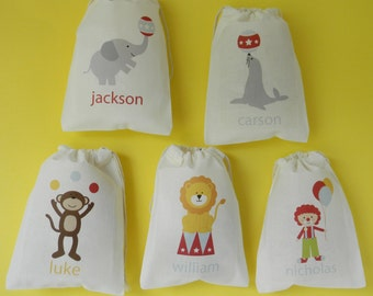 Circus Favor bags, Circus Personalized Favor Bags, Carnival Circus Party, Circus Friends Party Favors, Circus Birthday Bags, Circus Carival
