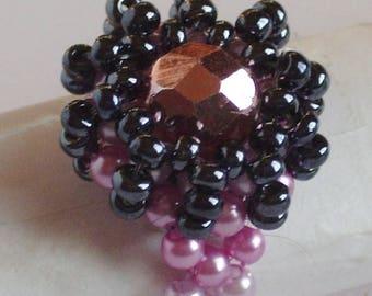 Snowflake pearls ring