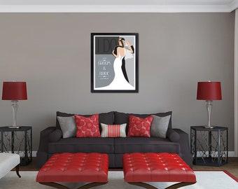 "Custom Vintage 16x24"" Wedding Poster ""The Dance"" - Free Shipping"