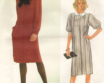 Vogue Albert Nipon vintage sewing pattern - designer dress - Size 8