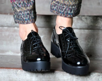 Soho -   Platform Oxfords, Oxfords for Women, Creepers, Womens Black Oxfords, Vintage Shoes, Custom Shoes, FREE customization!!!