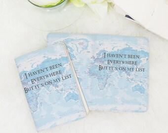 Summer travel wanderlust passport holder,passport cover map,passport wallet,passport case, passport cover,travel gifts