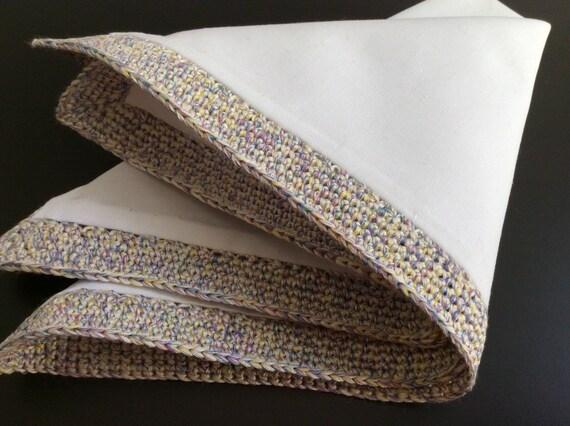 Cloth, silk-cotton, white