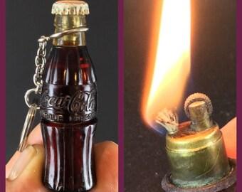 RARE lighter gas advertising COCA-COLA - circa 1950 - works