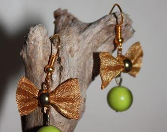 Golden Knot bow earrings