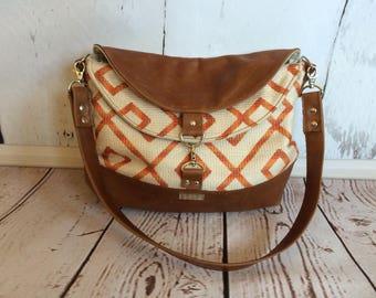 hobo bag, leather bag, leather shoulder bag, handmade, The Sariah Hobo Bag