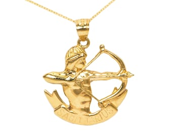 10k Yellow Gold Sagittarius Necklace