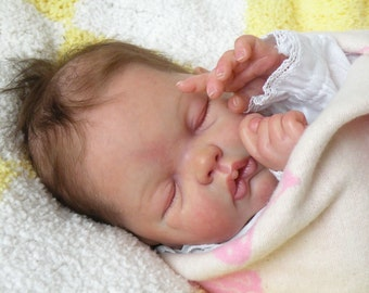 "Vinyl reborn baby newborn doll KIT ""Adelynn"" by Emily Jameson"