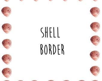 Shell border clip art ocean seashell clip art