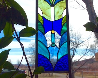Stained glass Garden Stake or window panel option