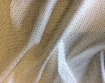 High quality cotton poplin printed in Japan, 1mm mustard polka dots