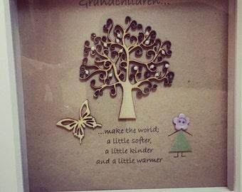 "Handcrafted Grandparent Gift - ""Grandchildren"" Frame"