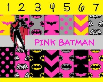 Pink Batman, Pattern HTV, Adhesive Vinyl, Outdoor Vinyl, Heat Transfer Vinyl, Iron On Vinyl or Glitter HTV.. Decals HTV. Adhesive