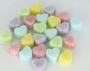 Pastel Colored Petite Heart Shaped Sugar Cubes - Tea Party, Wedding,Bridal Baby Shower, High Tea, Hostess Gift,Party Favor