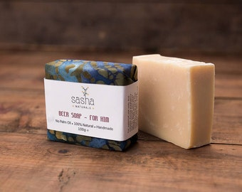 OUT OF STOCK - Beer Soap For Men - Gift for Men, Palm Oil Free Soap, Natural Soap, Handmade Soap, Men's Soap