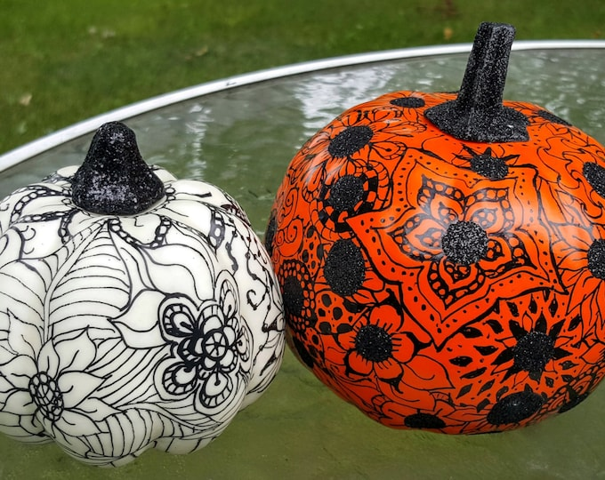 Harvest Fall Halloween Pumpkin Decoration Graphic Floral Designs Set