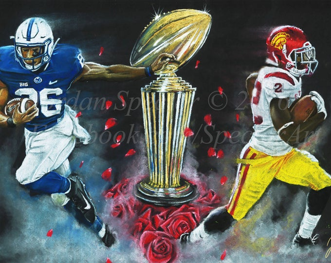 "Rose Bowl ""East vs. West"" Limited Edition art print - 20x24 inches"