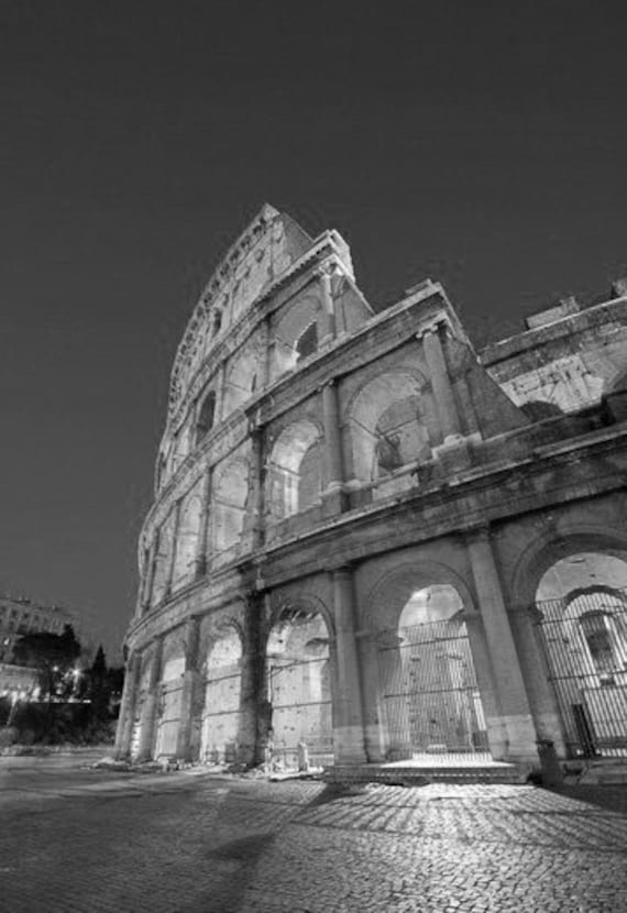 The colosseum cityscape of the colosseum ancient rome italy black white photography picture b and w art prints framed unframed