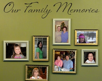 Our Family Memories Wall Decal - Family Decor - Gallery Wall