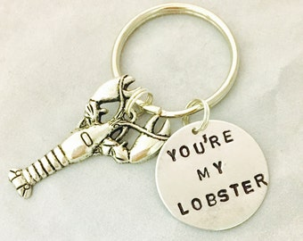 You're My Lobster Key Chain, Friends Fan Gift, Best Friend Gift, Gift For Fisherman