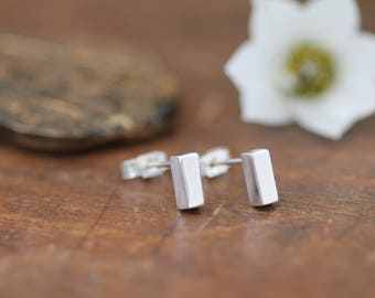 Nova Silver Petite Bolt Earrings
