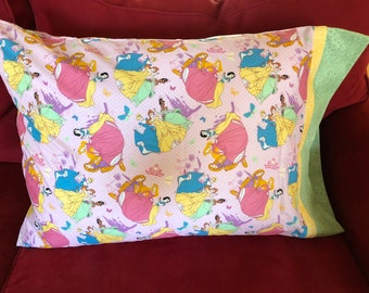 Childrens Disney Princess Print Pillowcase