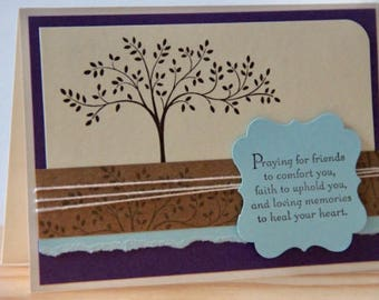 4 Religious Sympathy Cards.  Handmade Sympathy Card Set.  Christian Sympathy Cards.  Sympathy Praying for You Cards
