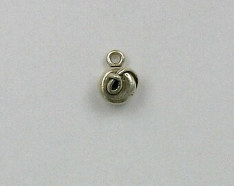 Sterling Silver 3-D Yoyo Charm