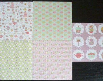 set of 5 sheets 15 x 15 cm: treats