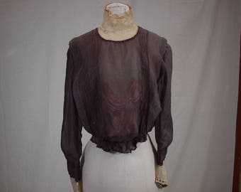 Turn of the century hand-sewn blouse
