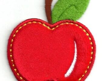 Apple - Fruit - Diet - Pie - Felt - Puffy - Apron - Bakery - Orchard - School - Teacher - Iron On Applqie Patch