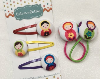 Matryoshka Doll Hair Accessories