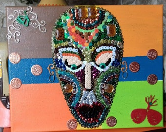 nice table topic African mask