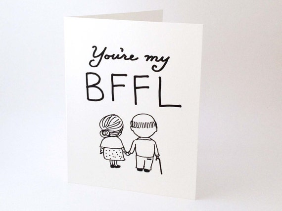 Witty Love Card Best Friend Card Funny Romantic Card Romantic Birthday Card Cute Valentines Day Card Youre My Bffl