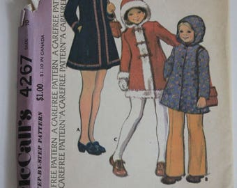 Childrens's and Girl's Coat McCall's Sewing Pattern from the 1970's.  Decades old, but still cute!