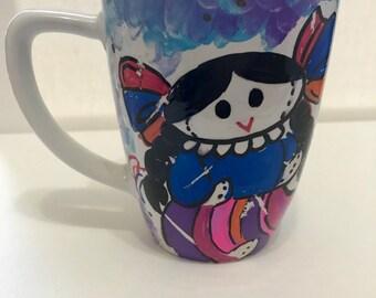 Handpainted Mug Muñeca Maria