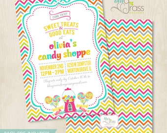 Custom Birthday Party Invitation by Mulberry Paperie - Candy Shoppe