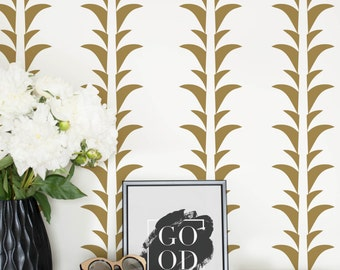 Yellow Palm Self Adhesive Wallpaper, Palm Regular or Removable Wallpaper, Palm Leaf Wall Mural, Leaf Wallpaper
