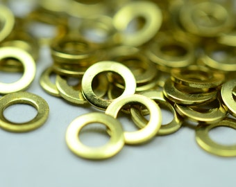 1000 Pieces Raw Brass 4.5 mm Round Disc Findings
