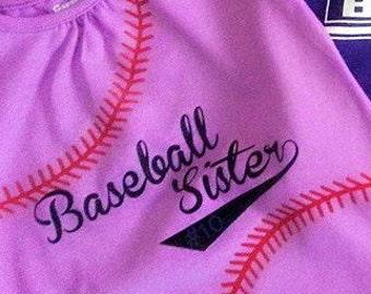 Baseball sister iron on