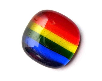 Pocket Rainbow Glass Unworry Stone 6 Color