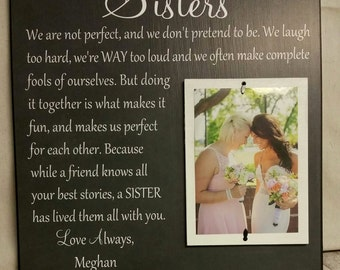 Wedding Gift, Sister Wedding Gift, Wedding Thank You Gift for Sister, Maid of Honor, Bridesmaid, Best Friend, We Are Not Perfect