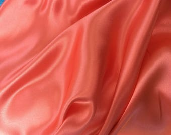 High quality silky sateen, very close to genuine silk sateen. Apricot No42