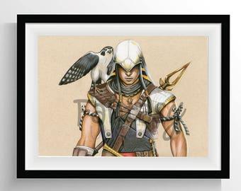 Bayek (Assassin's Creed Origins) - Original art print