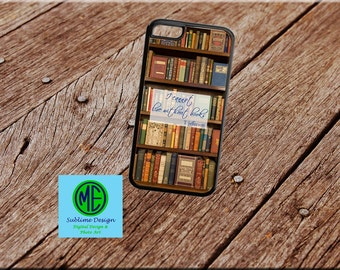 "Quote ""I Cannot Live Without Books"" Phone Case. Book Phone Case. iPhone Case. Samsung Case. iPod Case."