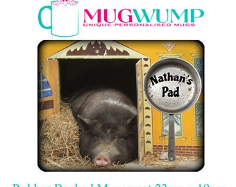 Personalised Uni Mousemat. College Mousemat. Back To Uni Mousemat. Pig sty mousemat. University Mousemat.
