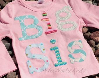 Big Sis Shirt, Big Sister Shirt, New Big Sister,Big Sister announcement, Pink T Shirt, Sibling Shirt, RUFFLED Tee
