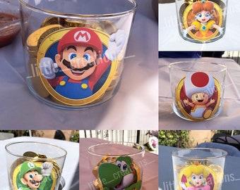 Super Mario, Princess Peach, Lugi, Daisy, Toad, and Yoshi Centerpieces/Party Favors