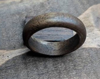 Wooden Ring, Black Walnut, handmade