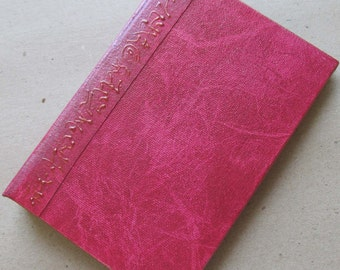 Refillable Journal Handmade Distressed Cherry Red Original 6x4 traveller notebook
